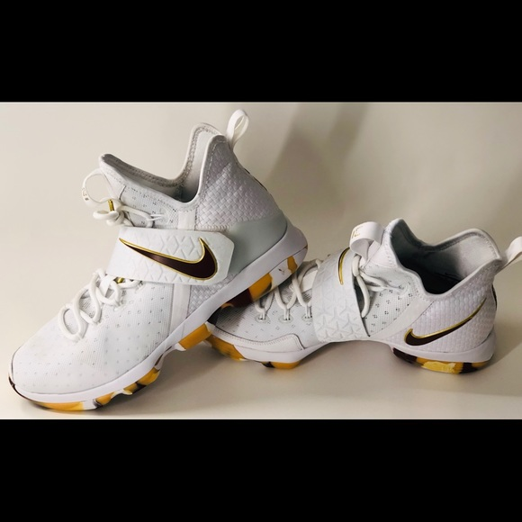 Nike Other - Nike Lebron XIV 14 White Wine and Gold